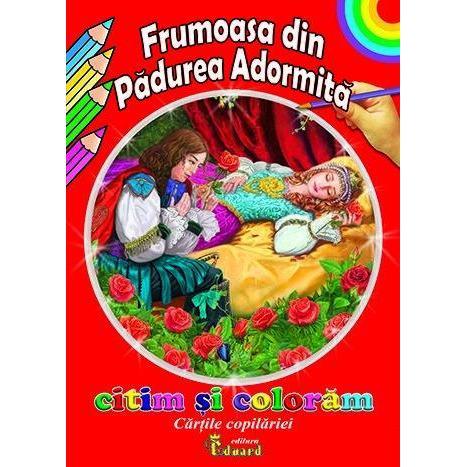 Carte de colorat Frumoasa din Padurea Adormita Sa Citim