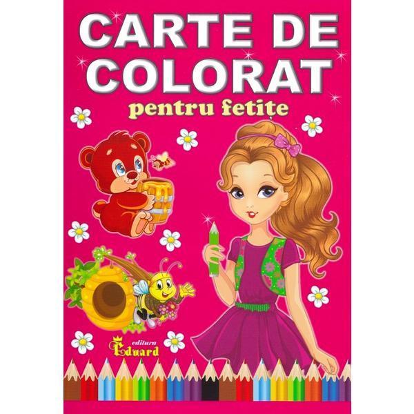 Carte de colorat pentru fetite Editura EDUARD 96 pagini
