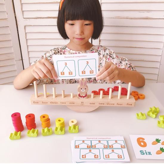 Joc echilibru Matematic Jucarie sortator cu forme Iepurasul