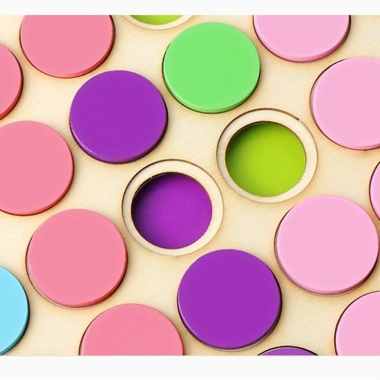 Joc mozaic creativ din lemn Sortarea culorilor copii