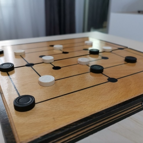 Joc strategic 2 in 1 Table si Tintar lemn Moara