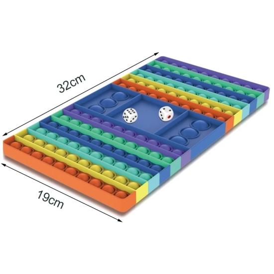 Jucarie Hochei POP-IT antistres cu bule din silicon Push