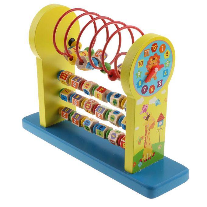 Jucarie Montessori educativa Raft cu cifre si operatii