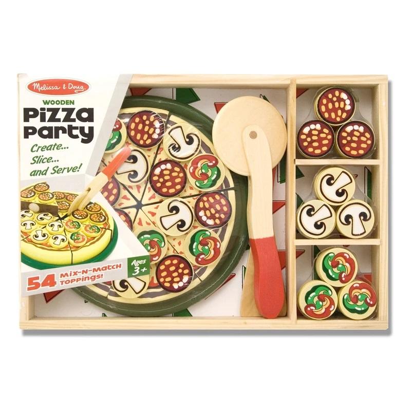 Jucarie Set feliere pizza din lemn Pizza Party Melissa doug
