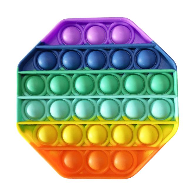 Jucarie antistres Curcubeu Pop-It Push Bubble si senzoriala