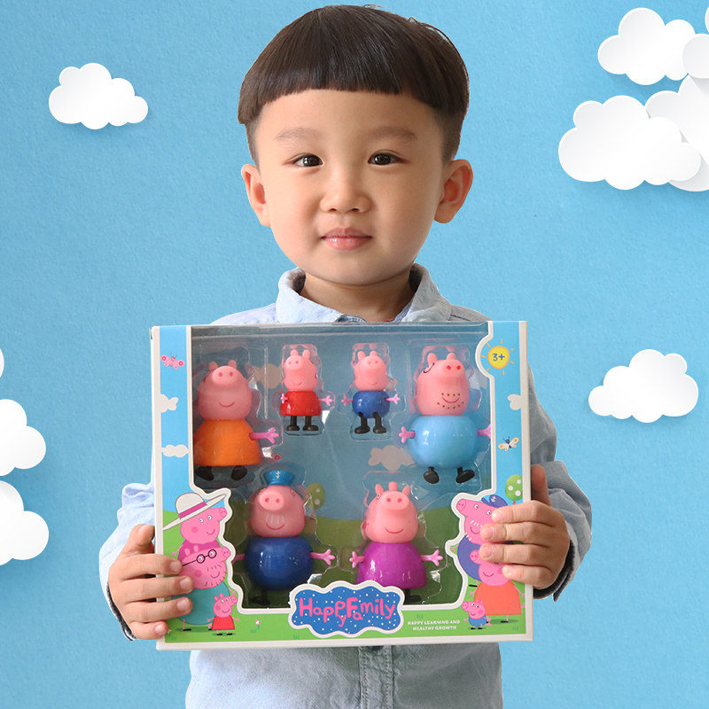Jucarii copii Figurine Purcelusii Peppa Pig 6 set