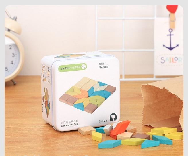 Mini jocuri de constructie creative din lemn pentru calatorii
