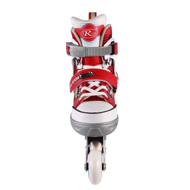 Role reglabile din aluminiu Model Adidas Rosu
