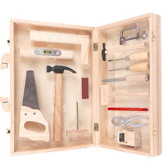 Trusa de scule din lemn Set instrumente tamplarie copii