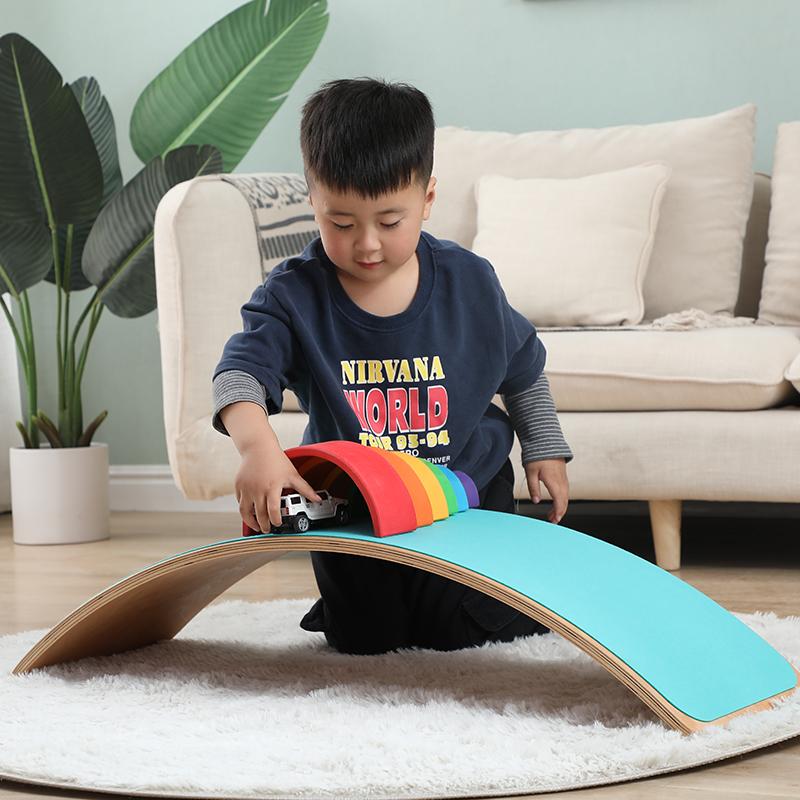 Balansoar Placa Jucarie din lemn Echilibru Rocker Board