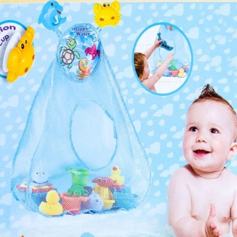 Cort de joaca pentru baie cu animalute pentru copii