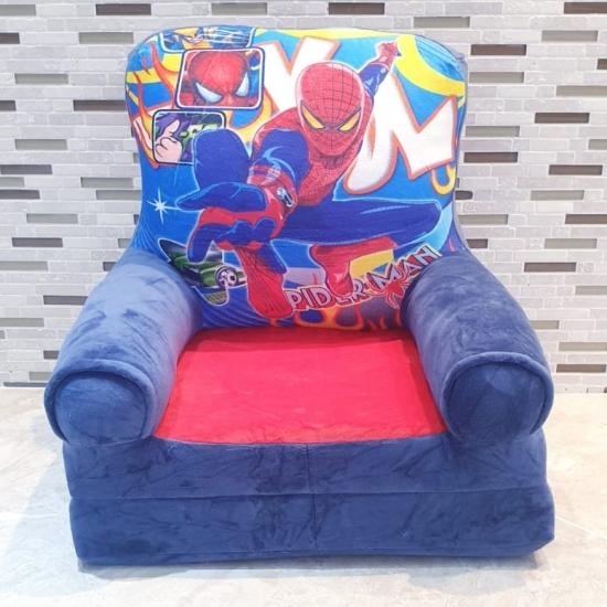 Fotoliu extensibil Spiderman din plus copii 80 cm