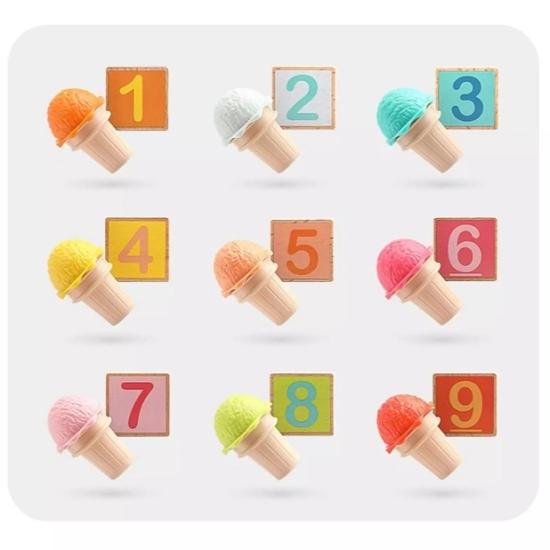 Joc Numaram cu Inghetata colorata Matematica Topbright