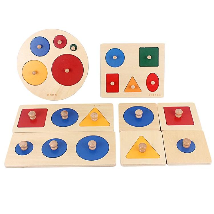 Joc lemn Montessori Forme geometrice mari individuale