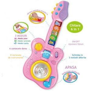 Jucarie Chitara muzicala pentru copii cu lumini
