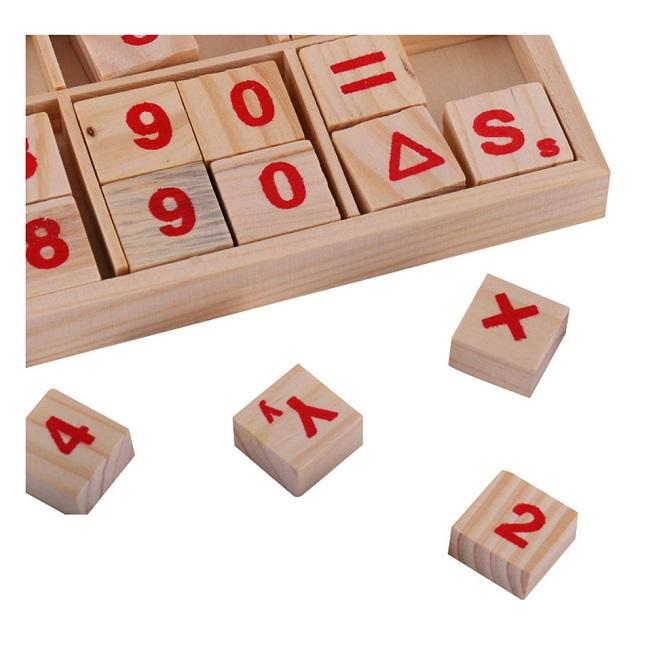 Jucarie educativa Alfabetul mare si mic cu Numere Abac