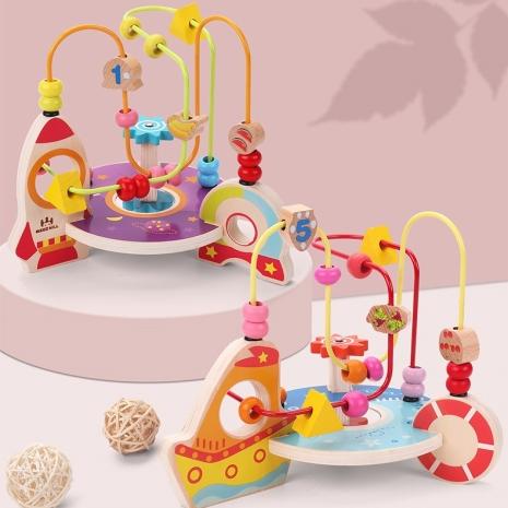 Labirint cu fructe din lemn si Circuit cu bile Nava spatiala