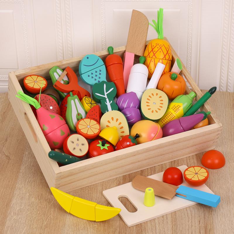 Set fructe si legume de feliat Bucataria de jucarie cu 30 piese
