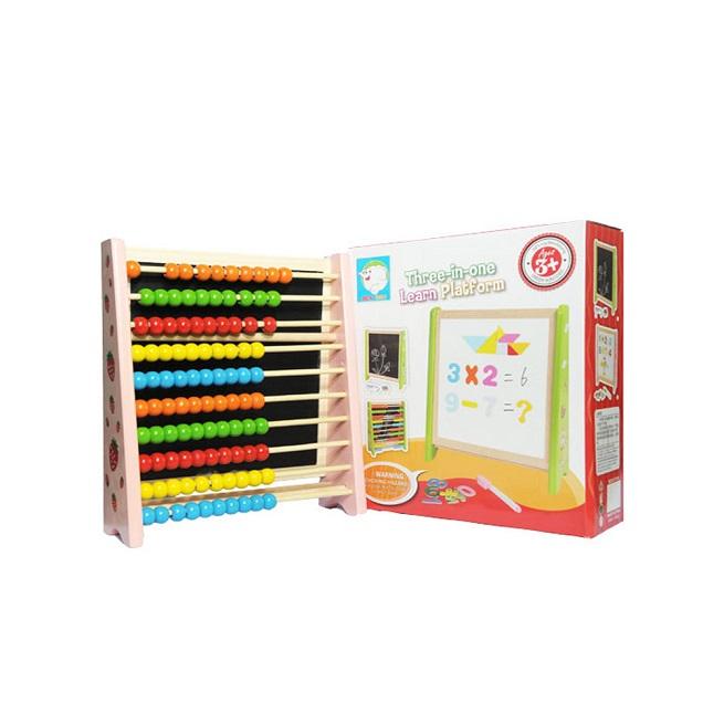 Tabla magnetica cu abac cifre si accesorii pentru scriere 3 in 1