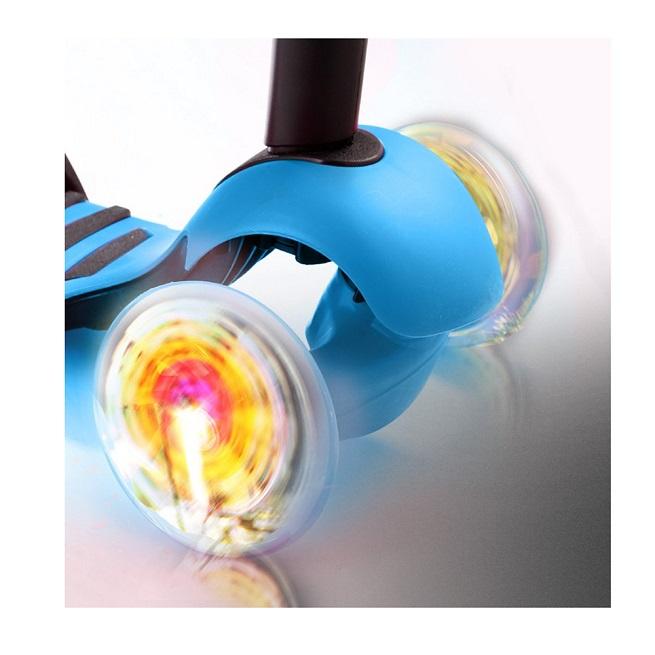 Trotineta 3in1 cu roti luminoase din silicon Buburuza