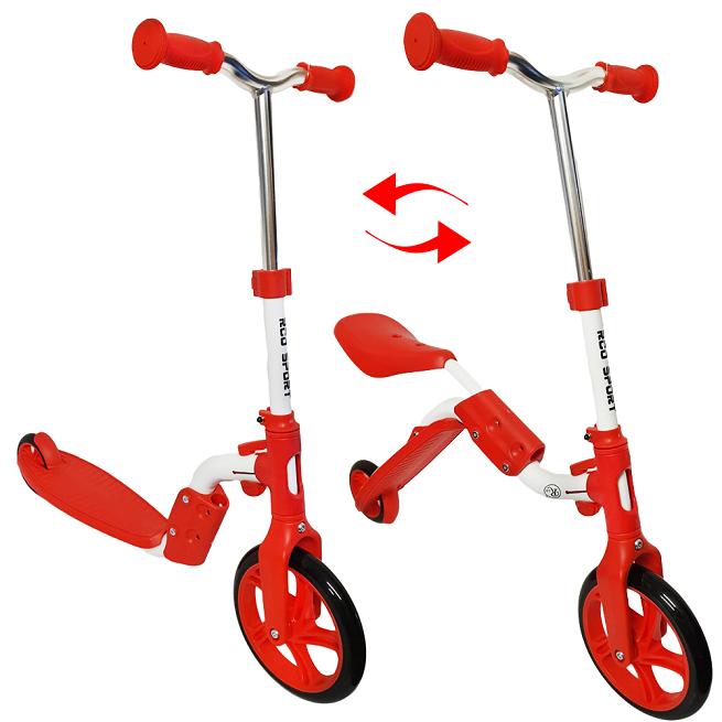 Trotineta si bicicleta cu 2 roti cu ghidon reglabil Rosu