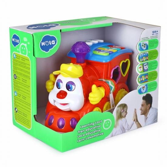 Jucarie educativa trenul cu lumini sunete si forme Hola Toys