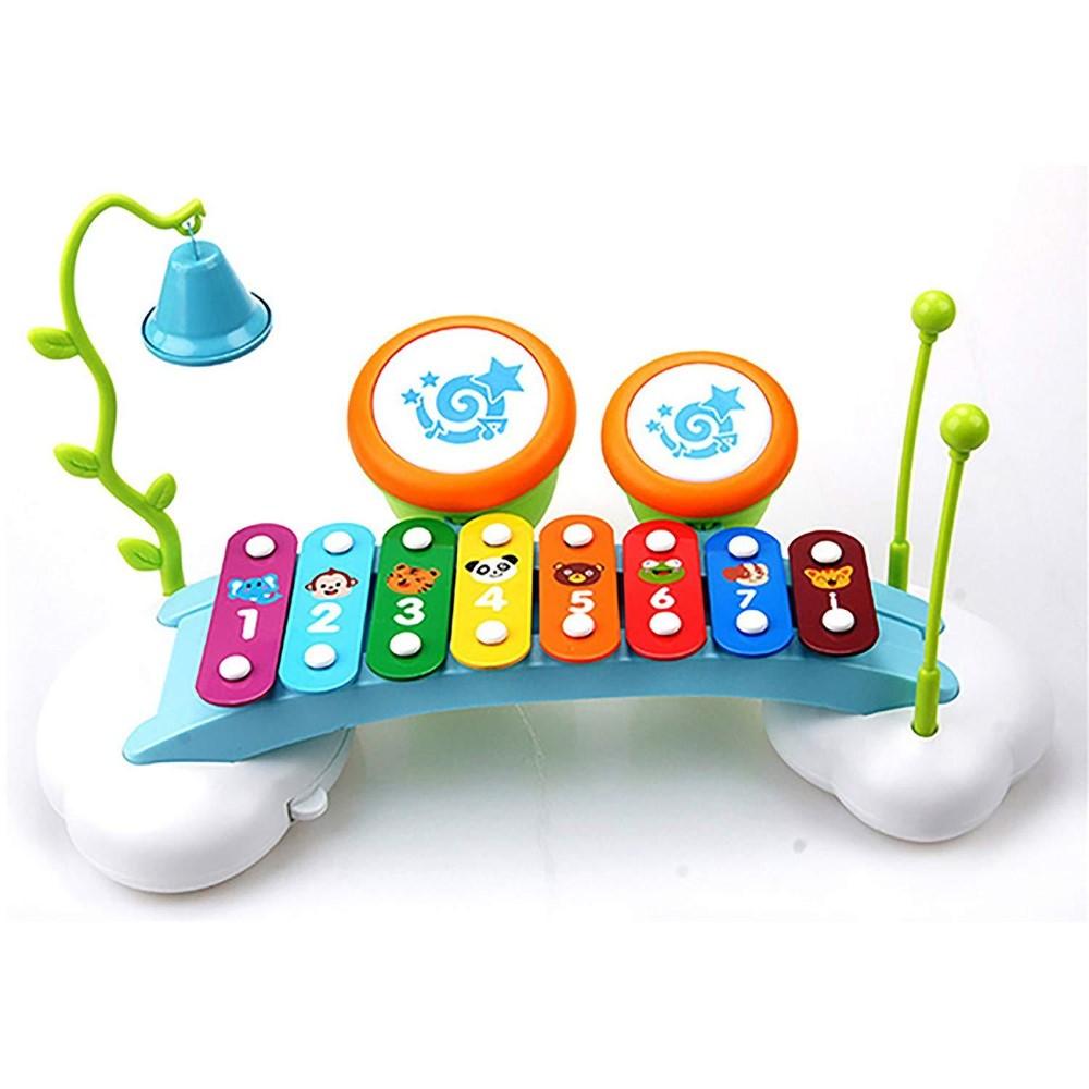 Jucarie xilofon bebe cu tobe si clopotel Hola