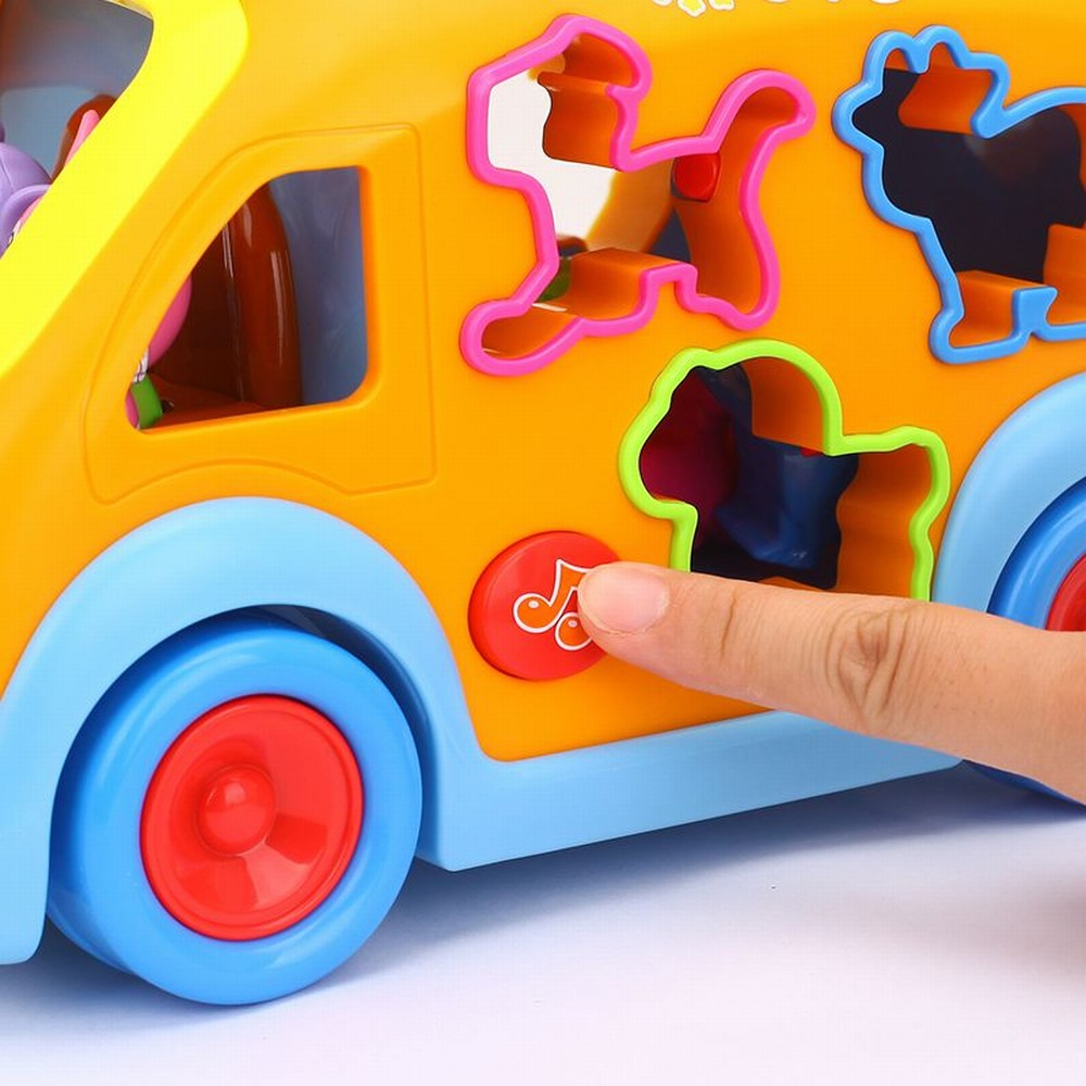 Jucarie Camioneta cu forme geometrice lumini sunete Hola