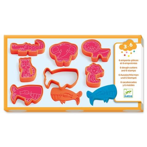 Forme pentru plastilina si stampile cu animale Djeco