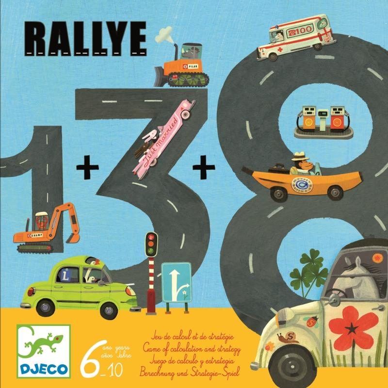 Joc cu trasee si kilometri cu vehicule Rallye Djeco