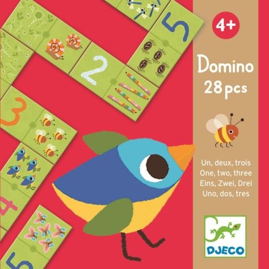 Joc educativ Puzzle Domino cu numere Djeco
