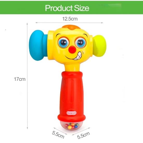 Jucarie interactiva bebe Ciocanel cu lumini si sunete Hola
