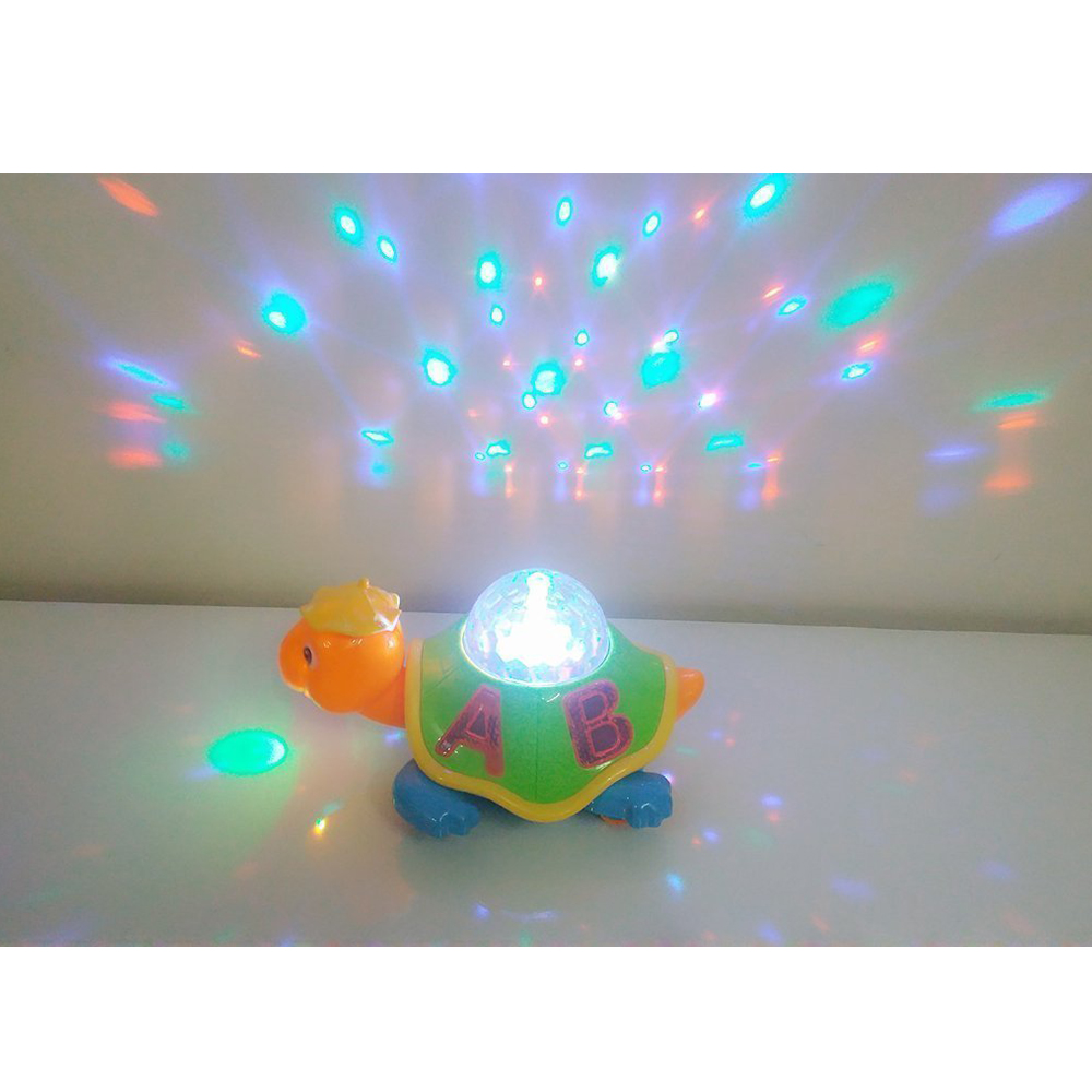 Jucarie interactiva si lampa de veghe Broscuta testoasa