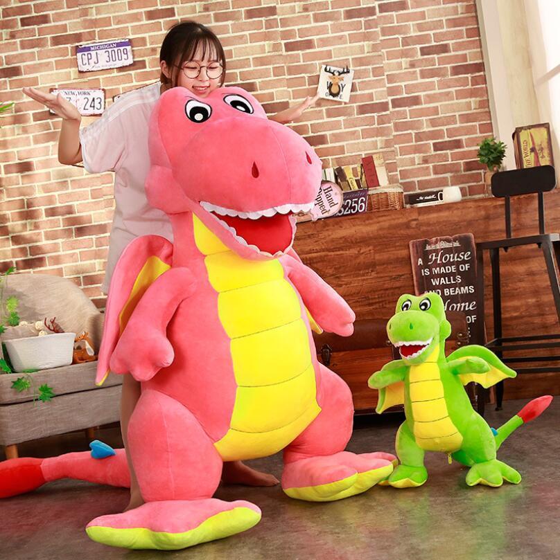 Jucarie plus Dinozaur cu aripi Dragonul cu tepi 100cm