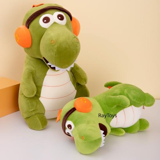 Jucarie plus Dinozaurul cu casti Ascultam muzica