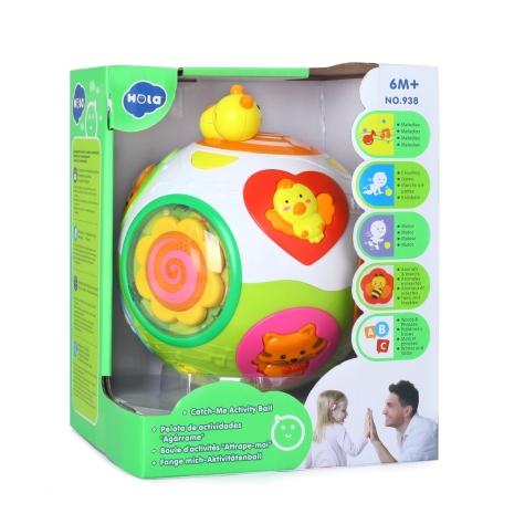 Mingea interactiva cu lumini si sunete Hola Toys