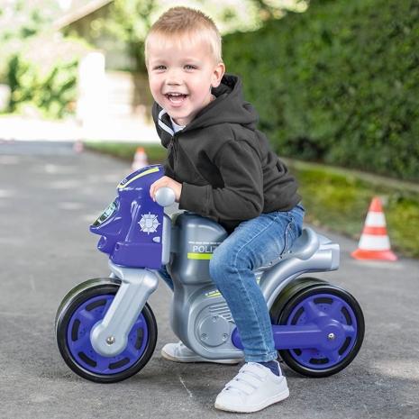 Motocicleta cu roti din cauciuc Motor Politie