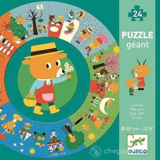 Puzzle rotund Circular Invatam anotimpurile Djeco