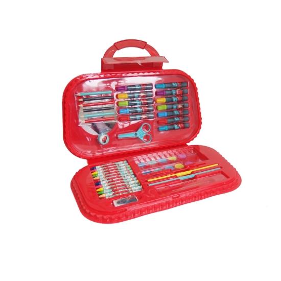 Set pentru desen cu creioane si carioci in gentuta Cars