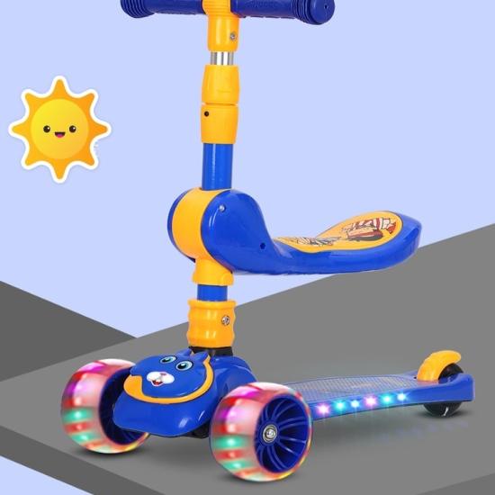 Trotineta tip Scooter reglabila cu lumini si scaun rotativ