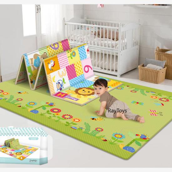 Covor pliabil de joaca cu 2 fete 180100 cm pentru bebe