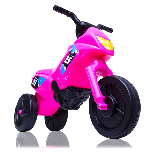 Motor Enduro mic fara pedale cu 3 roti Roz