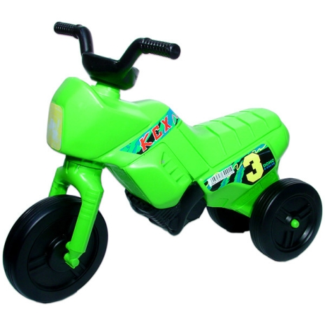 Motor Enduro mic verde fara pedale cu 3 roti