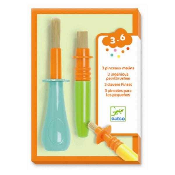 Set 3 pensule groase colorate Djeco