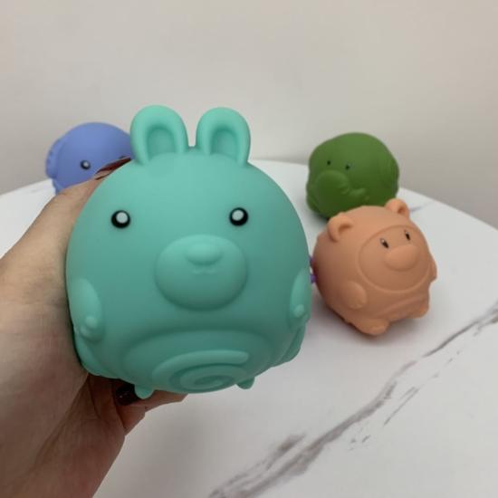 Set 6 animale cu sunete Figurine dentitie bebe Kaichi