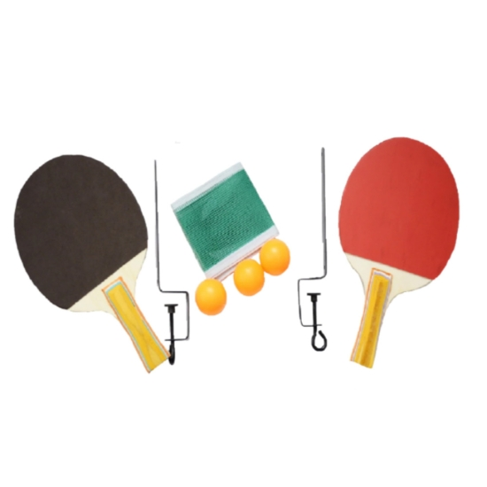 Set palete de tenis de masa cu mingi si fileu copii