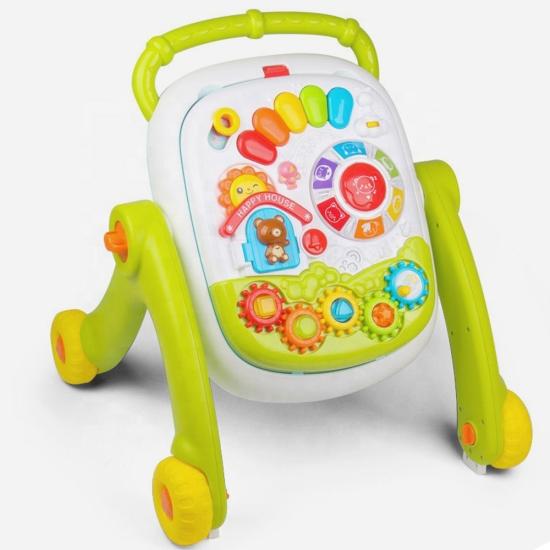 Antepremergator bebe cu activitati si panou detasabil 2 in 1