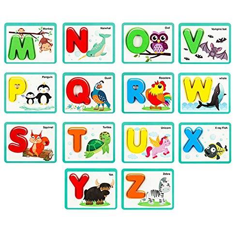 Joc carduri cu animale si litere 3D Alfabetul A-Z 52 piese