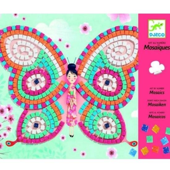 Joc creativ mozaic cu fluturi Arta prin numere Djeco