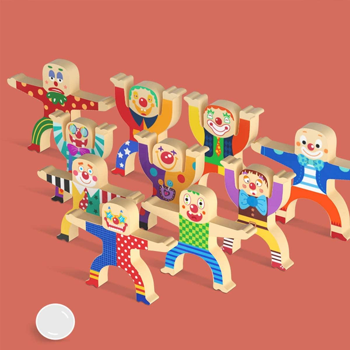 Joc stivuirea clovnilor Construim Bowling Domino lemn